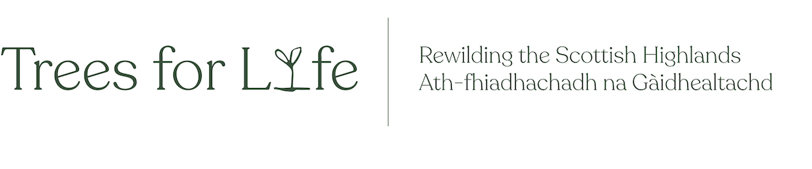 Trees for Life logo and tagline